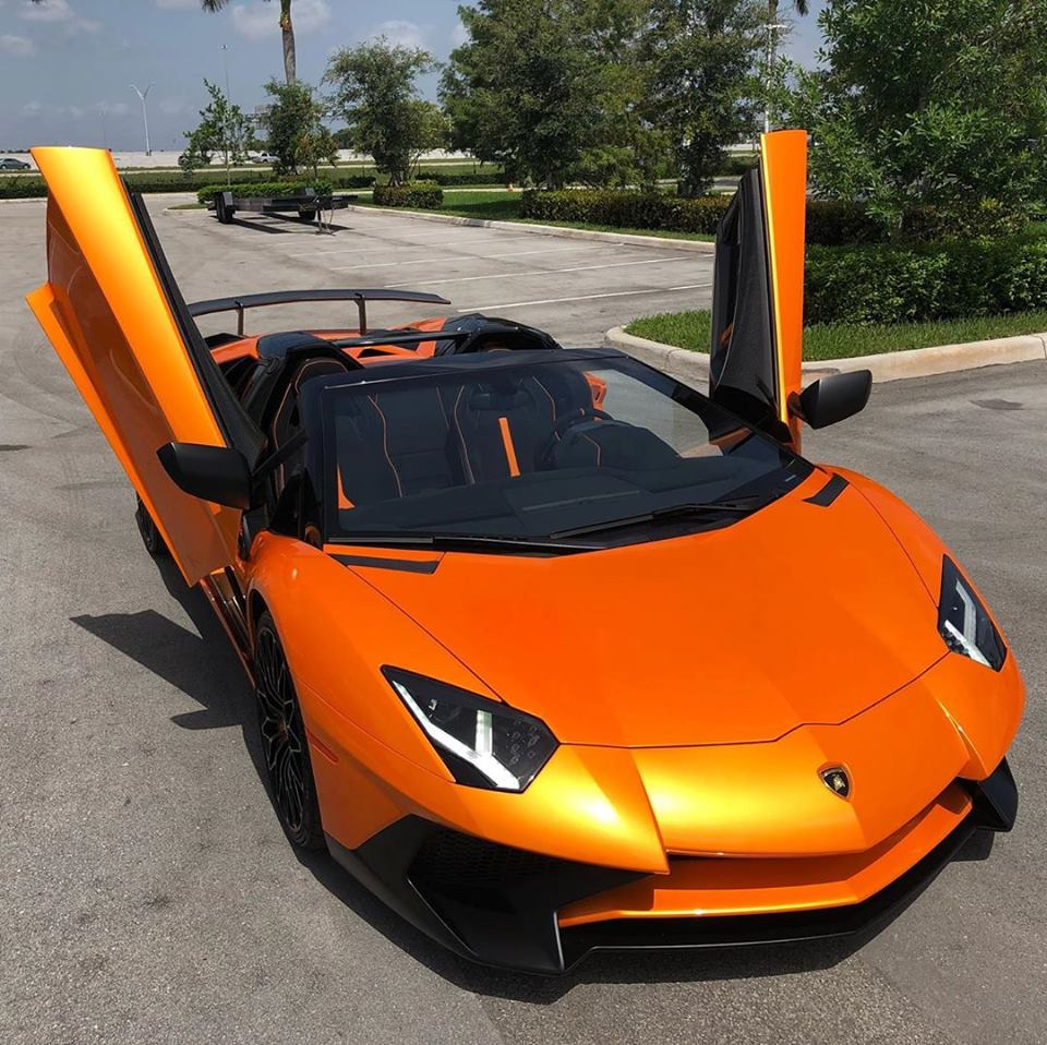 Life is too precious to be left to chance  -  Lamborghini Aventador SV Roadster