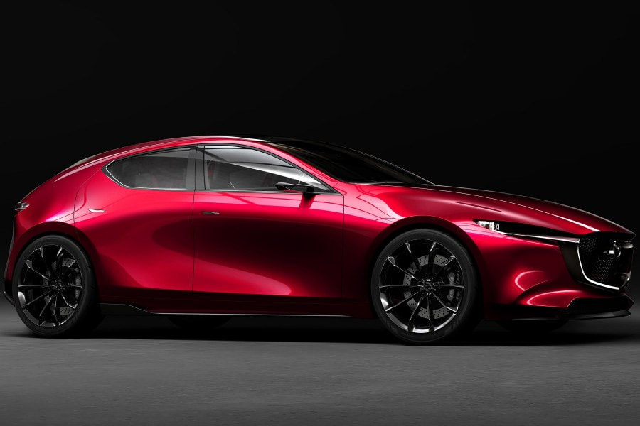 The 2018 Kai concept announces the style of the future Mazda 3 and its compression-ignition SkyActiv-X engine