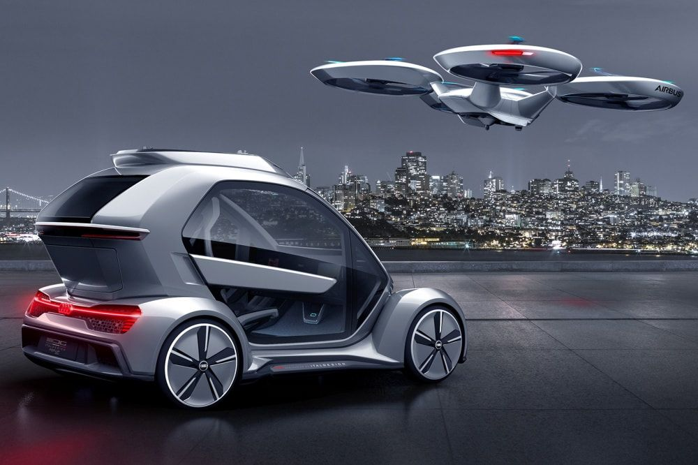 Audi Pop.Up Next: the autonomous flying car of Italdesign and Airbus